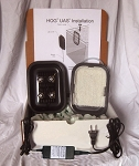 HOG1x Hang-On-Glass UAS Upflow Algae Scrubber with Green-Grabber surface and Xtra LEDs - 1 Cube feeding per day - MAGNET VERSION